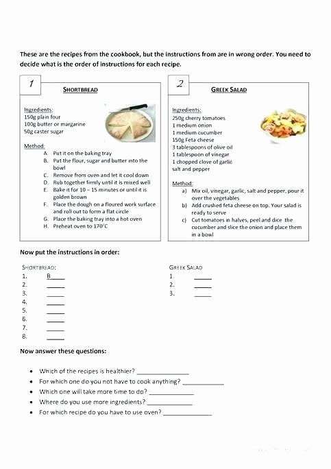 Kitchen Equivalents Worksheet Answers Esl Kitchen Vocabulary Printable Worksheets – Newtonstore