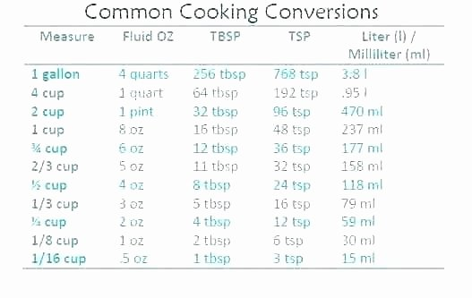 Kitchen Equivalents Worksheet Answers Kitchen Measurements – Gmpersonalprojectfo