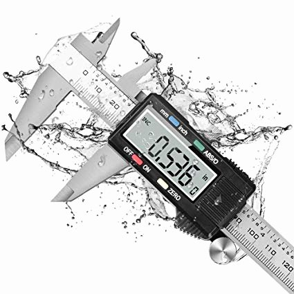 Kitchen Math Measuring Answers Dijite Caliper Measuring tool Digital Caliper with Abs 0 button Ip54 Waterproof Micrometer Caliper Digital Stainless Steel Body 6 Inch 150 Mm
