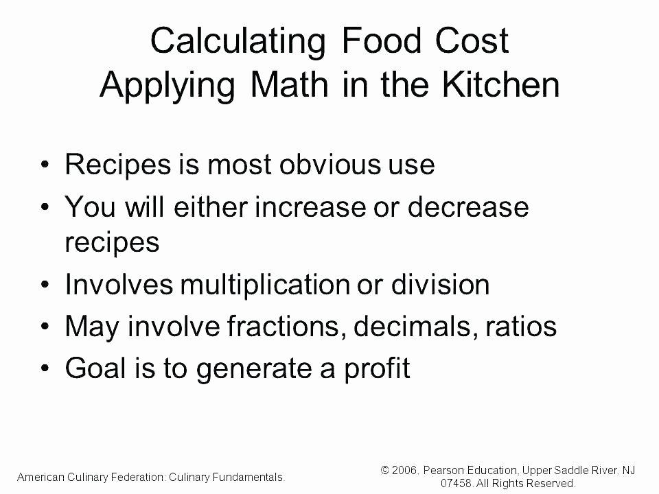 Kitchen Math Worksheets Inspirational Culinary Math Worksheets