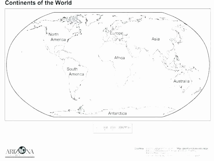 Label Continents and Oceans Printable asia Map Coloring Page – Nostalgicvision