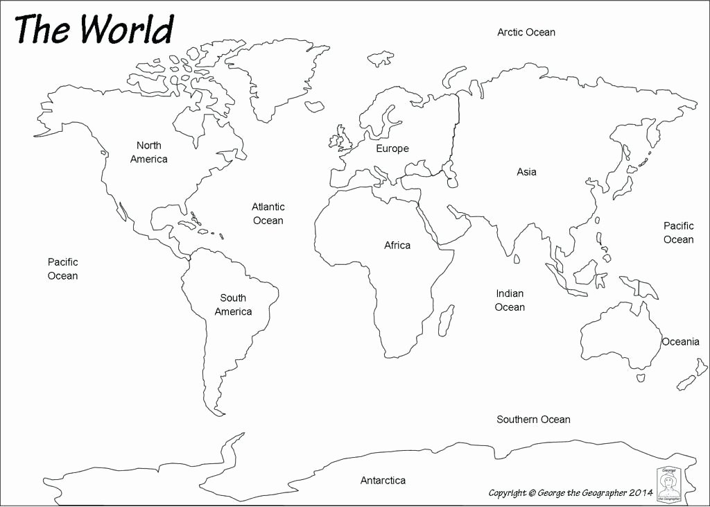 Label Continents and Oceans Printable Best World Map with Oceans Coloring Page – Kursknews