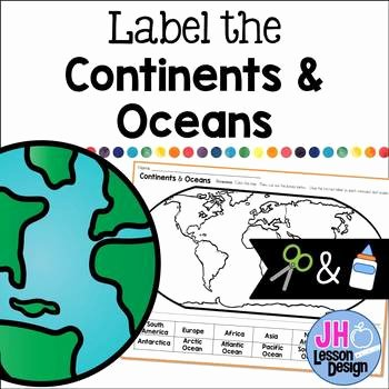 Label Continents and Oceans Printable Continents and Oceans Cut and Paste Worksheets & Teaching