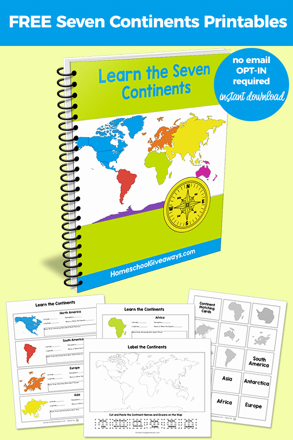 Label Continents and Oceans Printable World Geography Unit Study the 7 Continents Latitude