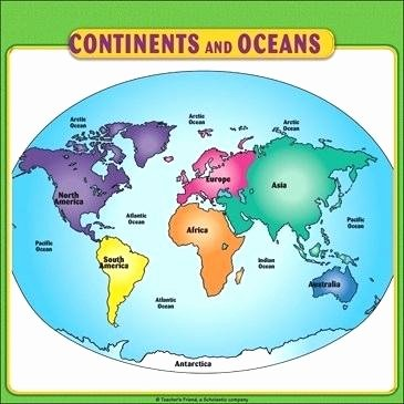 continents printable continents and oceans map student reference page