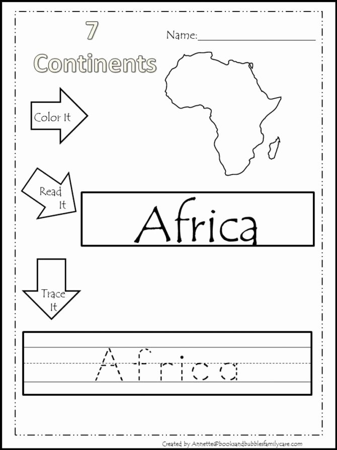 Label Continents and Oceans Worksheets Geography Continents and Oceans Worksheet the Resources
