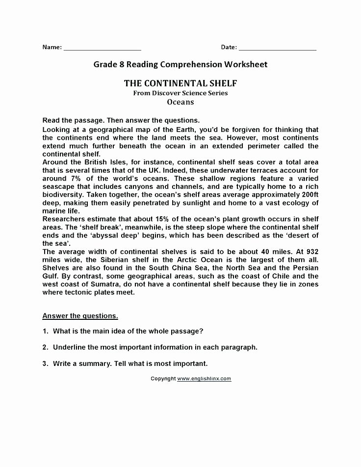 Label the Continents Worksheets Listening Prehension Worksheets Grade 8 for Printable