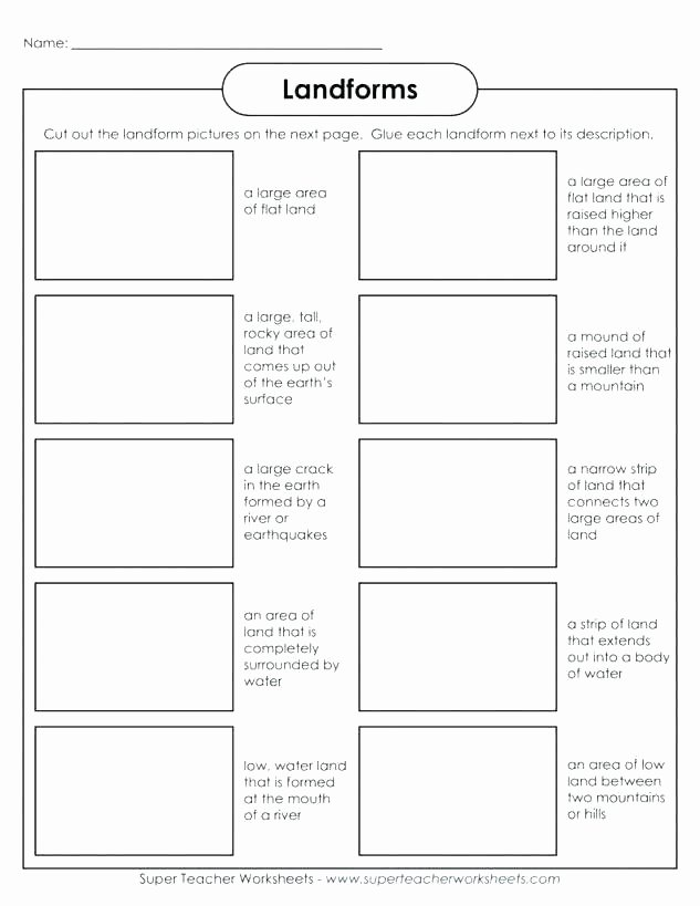 Landforms Worksheet for Kindergarten In north Worksheet for Kids In north Worksheet Free