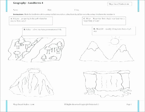Landforms Worksheet for Kindergarten Kindergarten Science Worksheets Printable Plants Worksheets