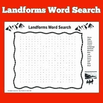Landforms Worksheet for Kindergarten Science Landforms Worksheets