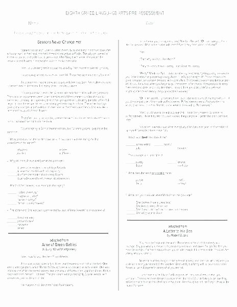 Language Arts Worksheets 8th Grade 8th Language Arts Worksheets