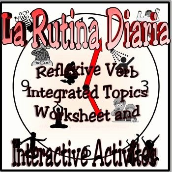 Language Mechanics Worksheets Daily Routine Integrated topic Worksheet Los Verbos