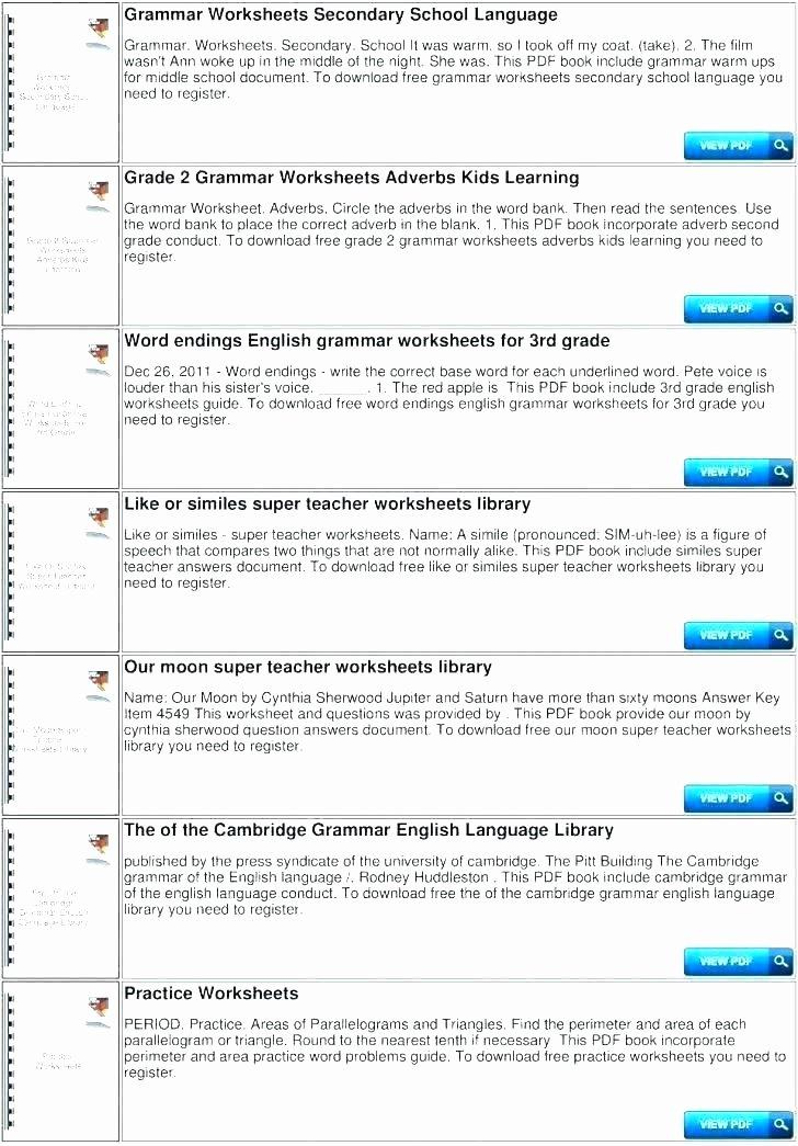 Language Mechanics Worksheets Sentence Correction Worksheets High School for All Parent