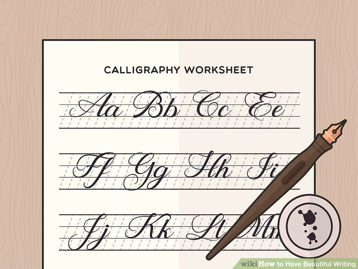 Learn Calligraphy Worksheets 3 Ways to Have Beautiful Writing Wikihow