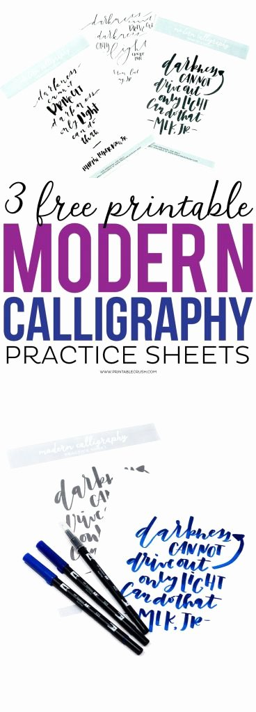 Learn Calligraphy Worksheets Free Brush Lettering Practice Sheets Imaxinaria