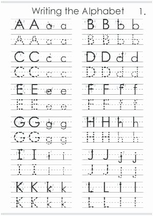 Learn Calligraphy Worksheets Learning the Alphabet Worksheets