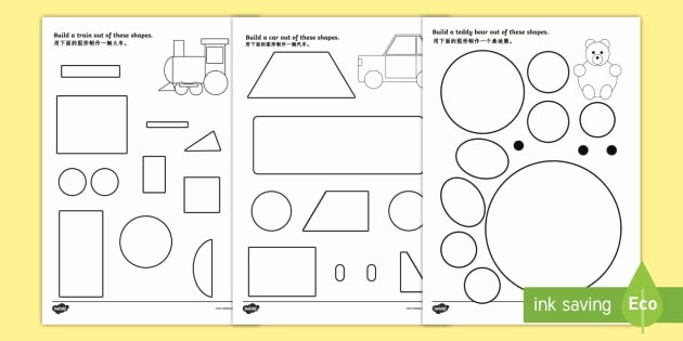 Learning Chinese Worksheets Shape Building Worksheet Worksheet English Mandarin