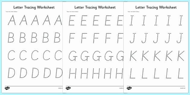 Letter and Number Tracing Worksheets Letter Printing Worksheets – Slaterengineering