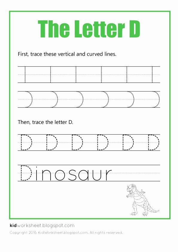 Letter D Worksheet Preschool 26 Learner Friendly Letter D Worksheets