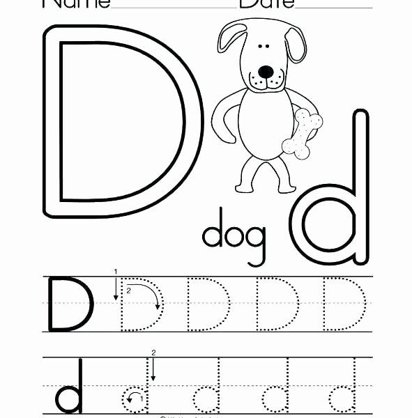 Letter D Worksheet Preschool Letter B and D Worksheets