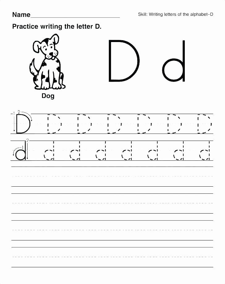 Letter D Worksheet Preschool Letter D Tracing Worksheets