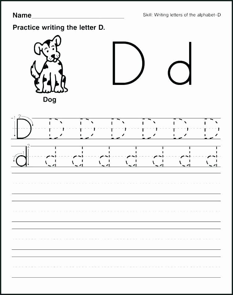 Letter D Worksheet Preschool Letter D Worksheets for Preschool Coloring Capture Phonics