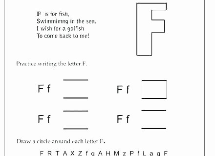 Letter F Worksheets for toddlers Awesome Letter F Worksheets for Kindergarten