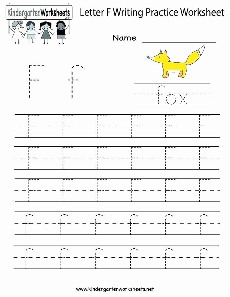 Letter F Worksheets for toddlers Inspirational Free Printable Blank Handwriting Worksheets for Kindergarten