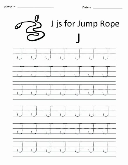 Letter F Worksheets for toddlers Inspirational Writing Lowercase Letter J Worksheets Kindergarten Numbers