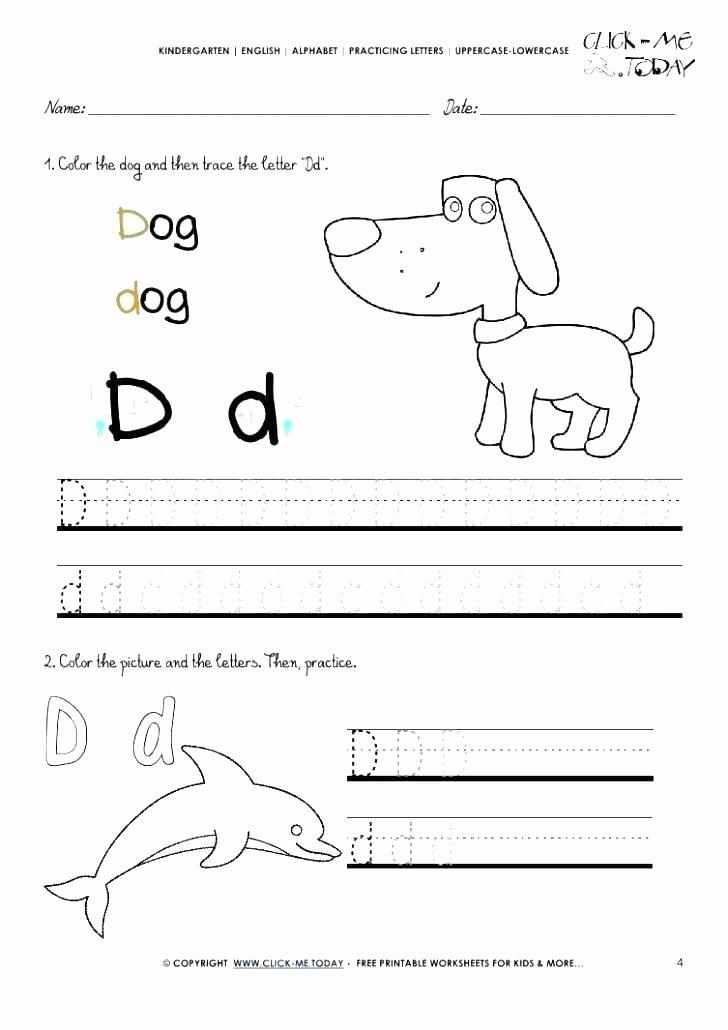 Letter F Worksheets for toddlers Unique Letter D Worksheets