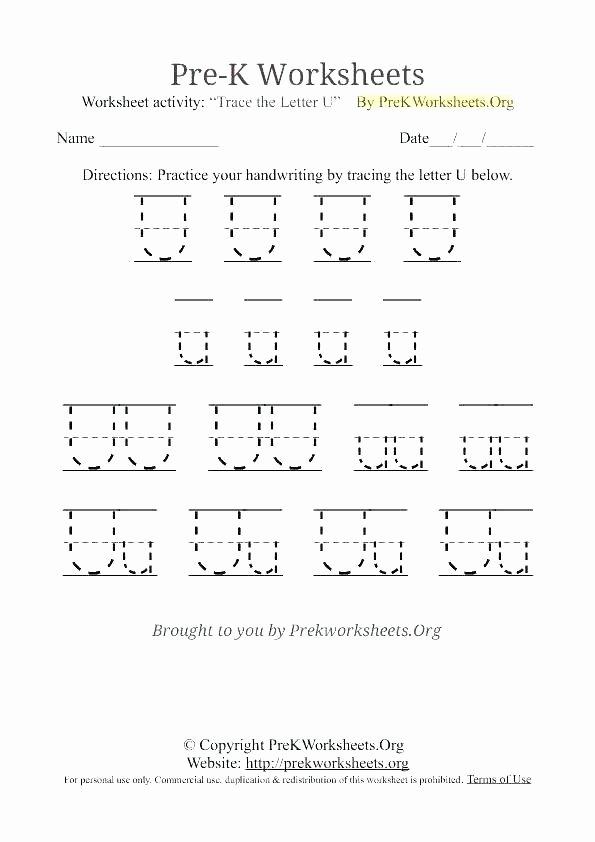 Letter G Tracing Worksheet Letter U Worksheets K Tracing Worksheet Literacy Preschool