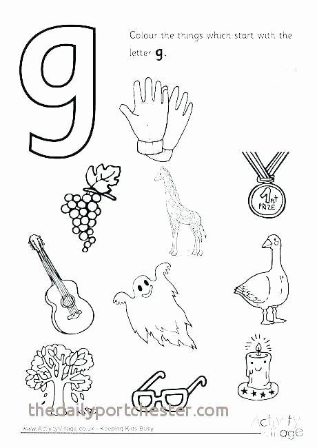 Letter G Worksheet Preschool Letter G Coloring Pages New Alphabet Letter G Worksheet