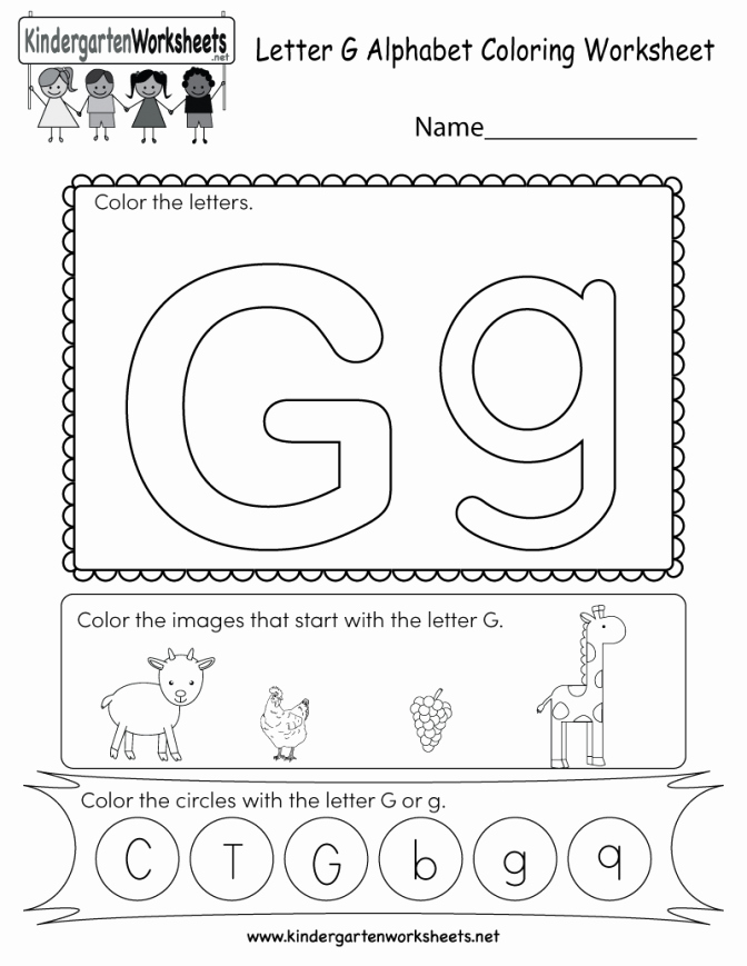 Letter G Worksheets for Kindergarten Kindergarten Printable Spelling Worksheet Level Worksheets