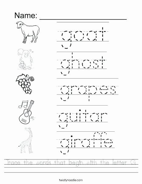 Letter G Worksheets Preschool Kindergarten Abc Tracing Worksheets