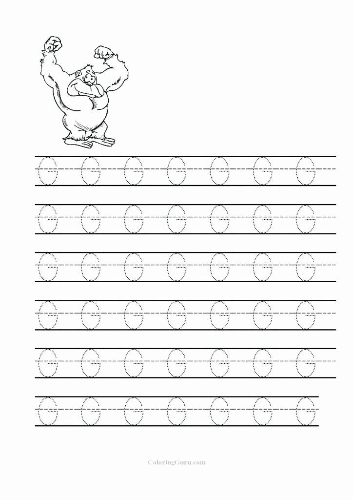 Letter G Worksheets Preschool Pre K Letter Worksheets