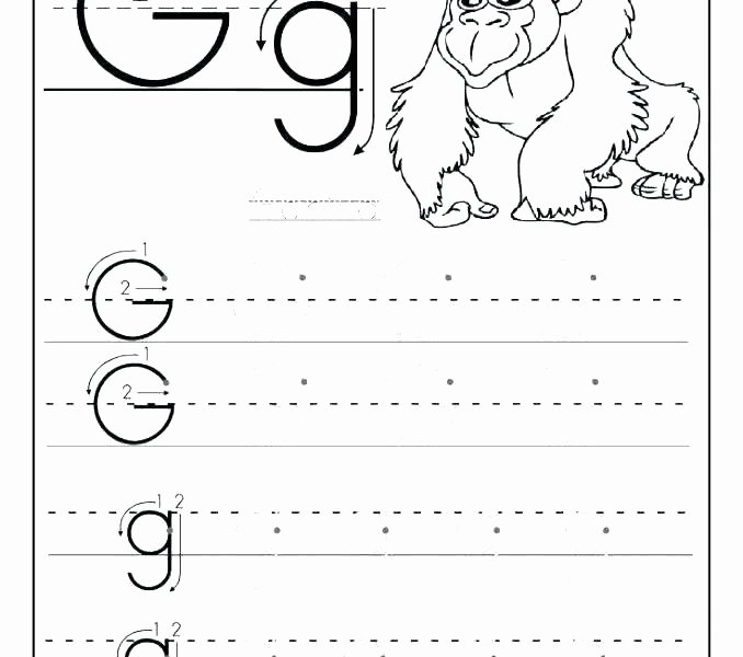 Letter G Worksheets Preschool Worksheets for Pre Schoolers