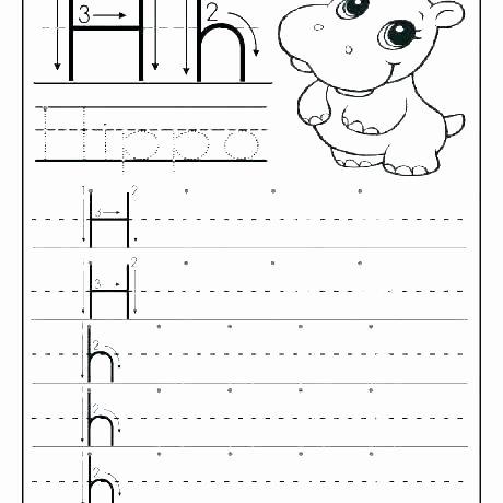 Letter H Traceable Worksheets Traceable Letter Worksheets
