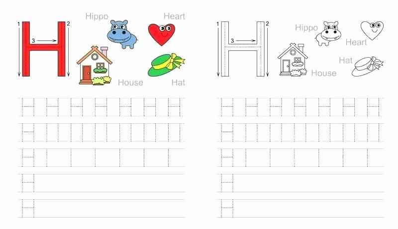 Letter H Tracing Pages Letter H Handwriting Worksheets – butterbeebetty