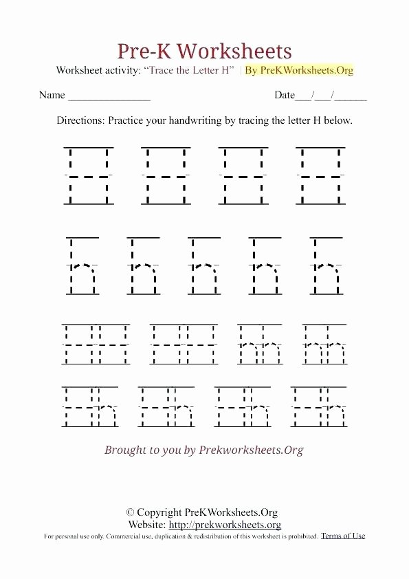 Letter H Tracing Pages Letter H Tracing Worksheets – Newstalkfo