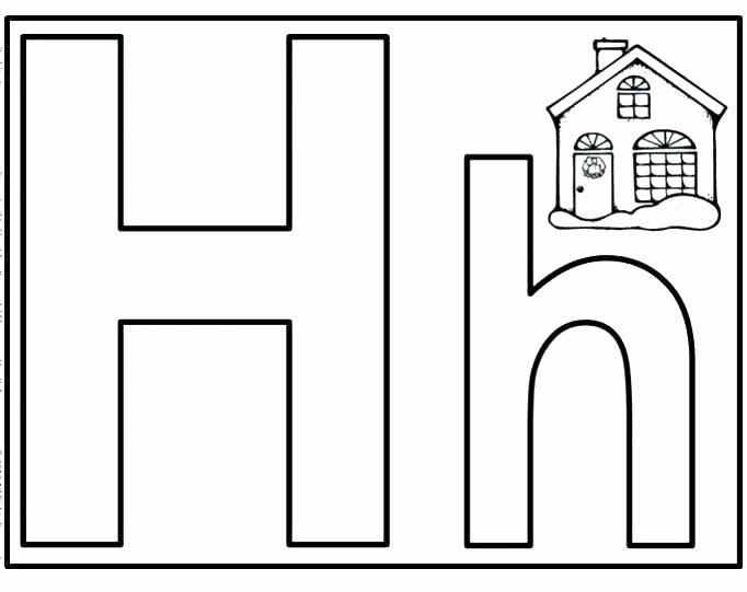 Letter H Tracing Pages Letter H Worksheet Letter H Worksheets Recognize Trace Print