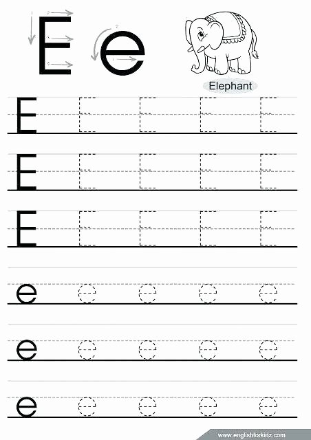 Letter H Tracing Pages T Worksheets for Preschool Letter E Tracing Page Games Math