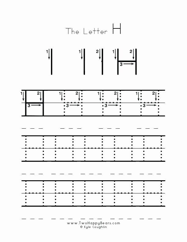 Letter H Tracing Worksheet Free Alphabet Worksheets for Kindergarten Printable Tracing Ki