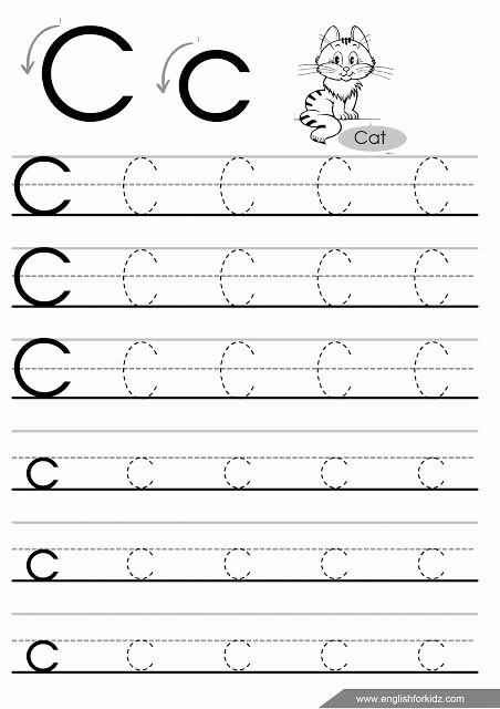 Letter H Tracing Worksheet Letter C Tracing Worksheet for Esl Teachers