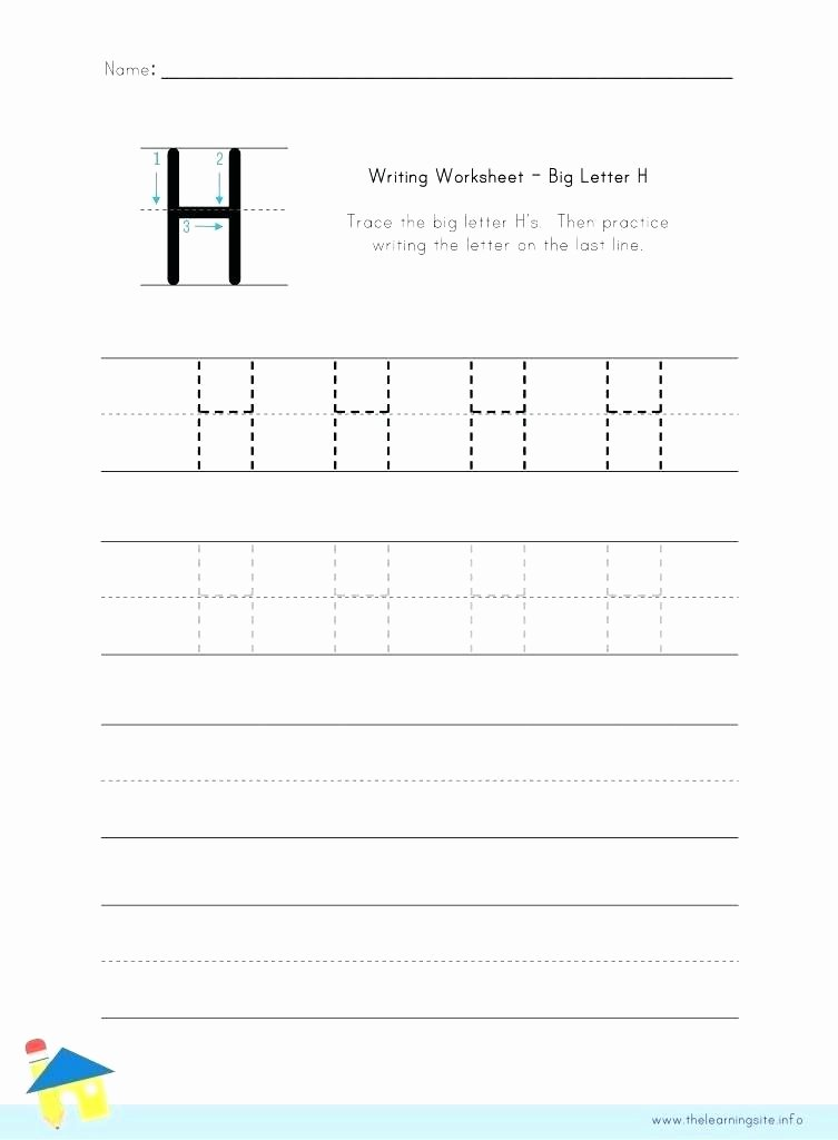 Letter H Tracing Worksheet Letter H Worksheets Preschool Q for Preschoolers Alphabet J