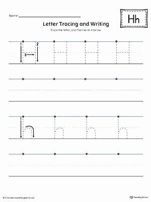 Letter H Tracing Worksheets Letter A Tracing Worksheets Preschool