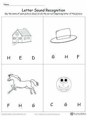 Letter H Tracing Worksheets Letter H Worksheet Unique Recognize the sound the Letter