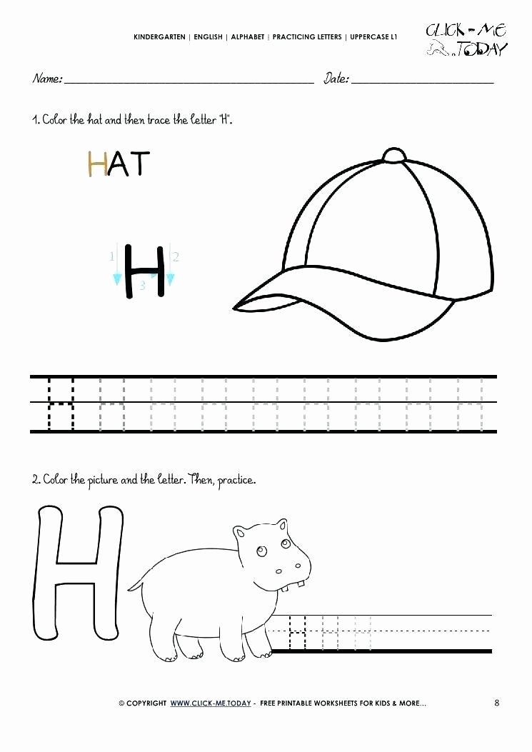 Letter H Tracing Worksheets Preschool Free Printable Letter H Worksheets Letter H Worksheets Free
