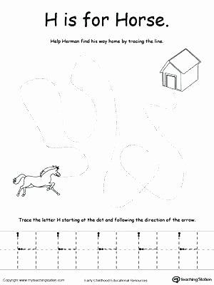 Letter H Tracing Worksheets Preschool Letter B Tracing Worksheets for Preschool