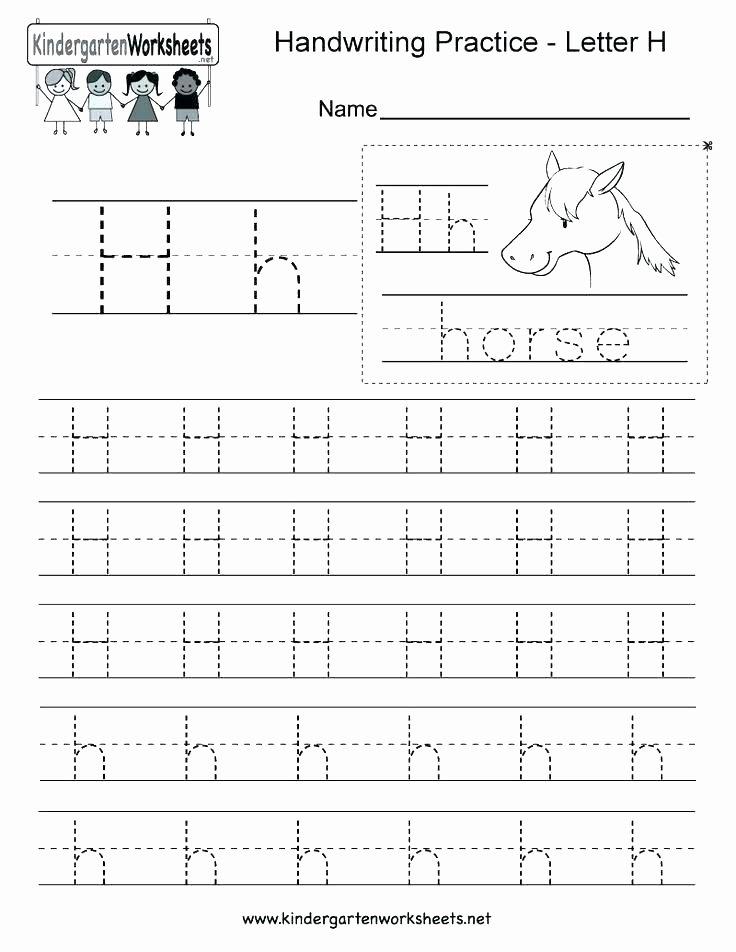 Letter H Tracing Worksheets Preschool Letter H Worksheets for Preschool Kindergarten L Tracing