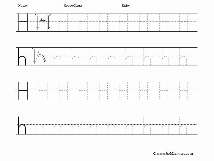 Letter H Tracing Worksheets Preschool Printable Letter H Worksheets for Preschool Kindergarten